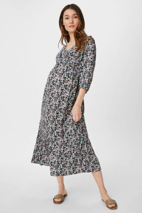 Vestidos premama donde comprar C&A vestido largo estampado