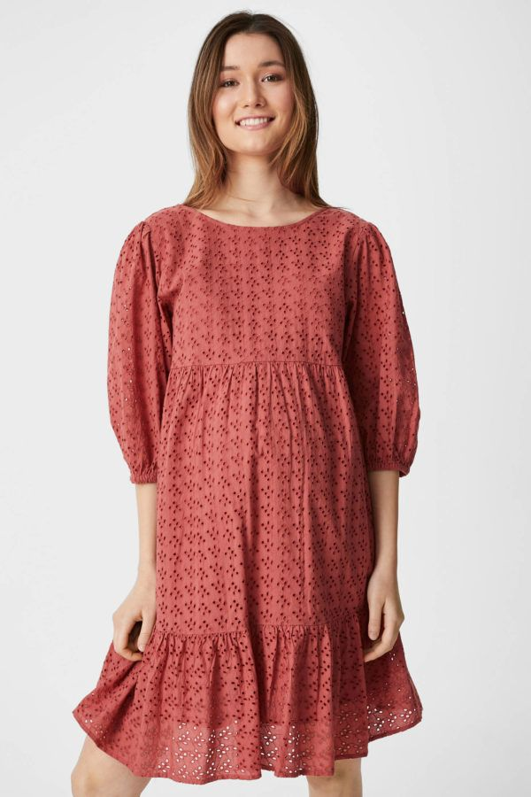 Vestidos premama donde comprar C&A vestido midi rojo