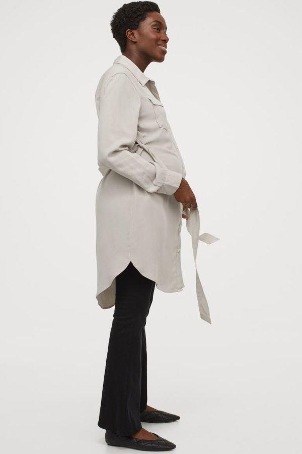 Vestidos premama donde comprar H&M estilo camisero