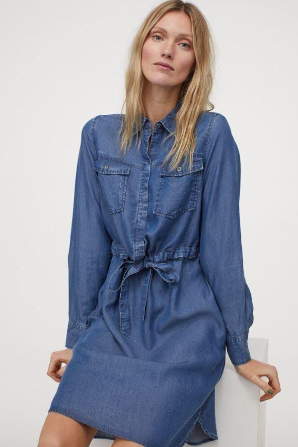 Vestidos premama donde comprar H&M estilo denim