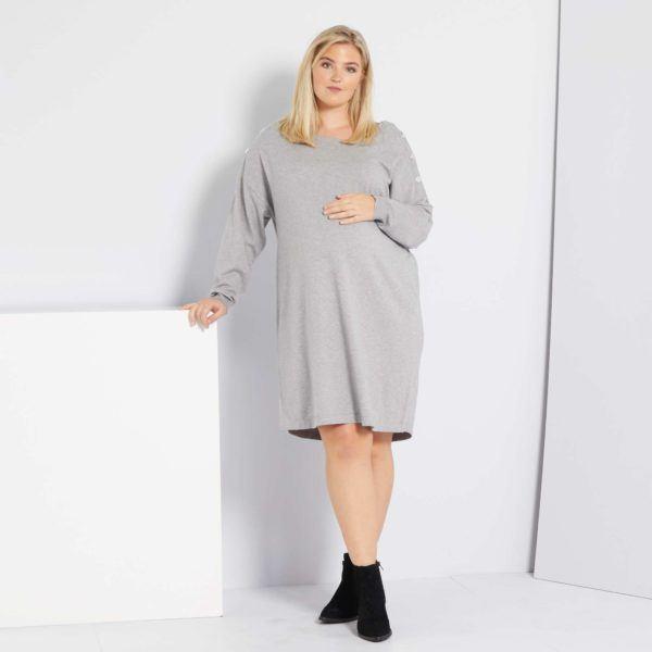 Vestidos premama donde comprar KAIBI vestido sudadera gris