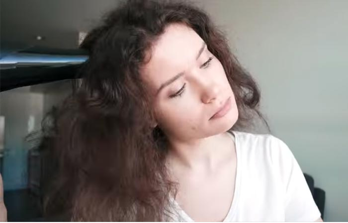 Seca tu cabello completamente.