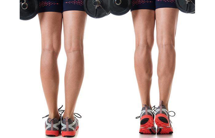 Elevaciones de pantorrilla - Cómo deshacerse de los tobillos