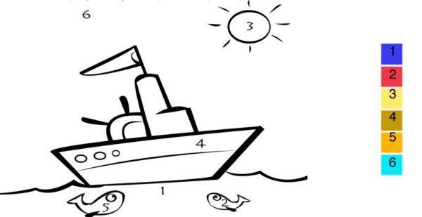 aprender-colores-niños-ficha-4-años-barco-colores-numeros