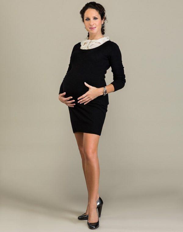vestido embarazada invierno
