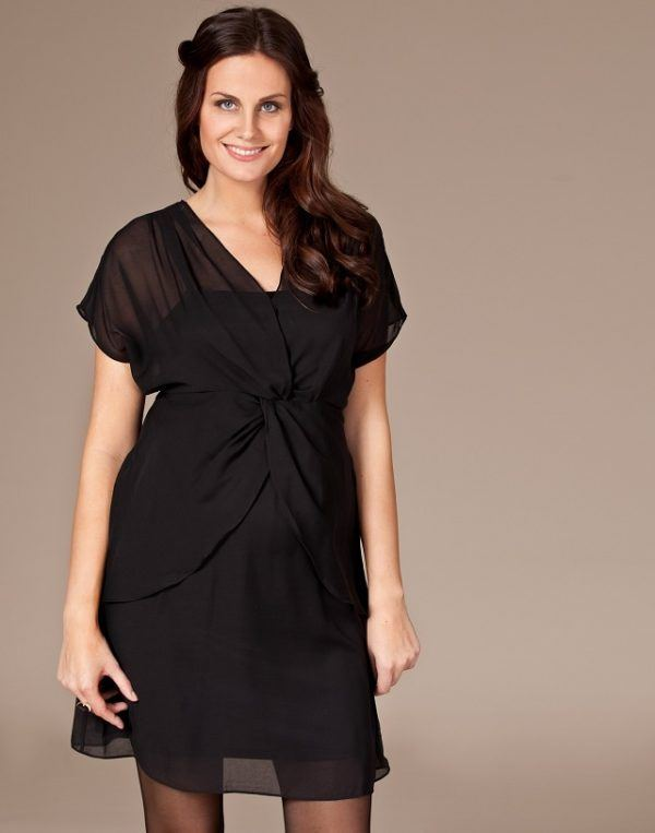 vestido embarazada negro