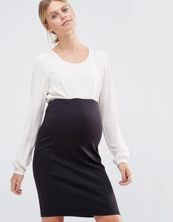 vestidos-para-embarazadas-invitadas-a-una-comunion-otono-invierno-2017-bicolor