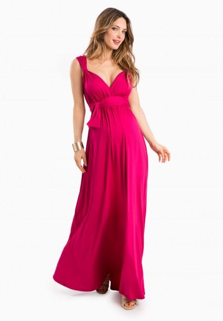 vestidos-para-embarazadas-invitadas-a-una-comunion-otono-invierno-2017-rosa-largo