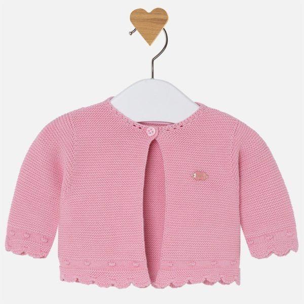 d089fd61f El vestido de abrocha por la parte trasera con botones. Un precioso vestido  que podrá llevar como complemento una chaquetita en un color rosa más  intenso a ...