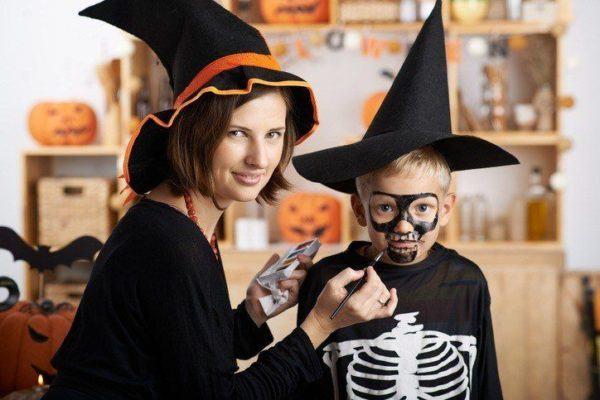 Pinturas para ninos cara cuerpo colores y fotos esqueleto con disfraz