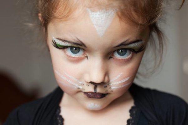 Pinturas para ninos cara cuerpo colores y fotos gatita