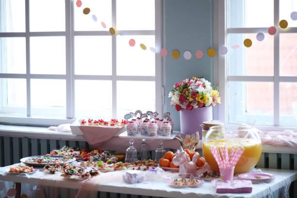 Ideas baby shower centro de mesa flores