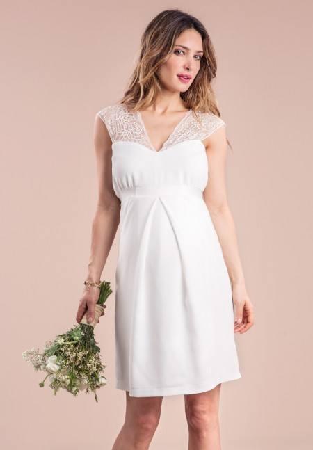 Vestido de novia sencillo para embarazada