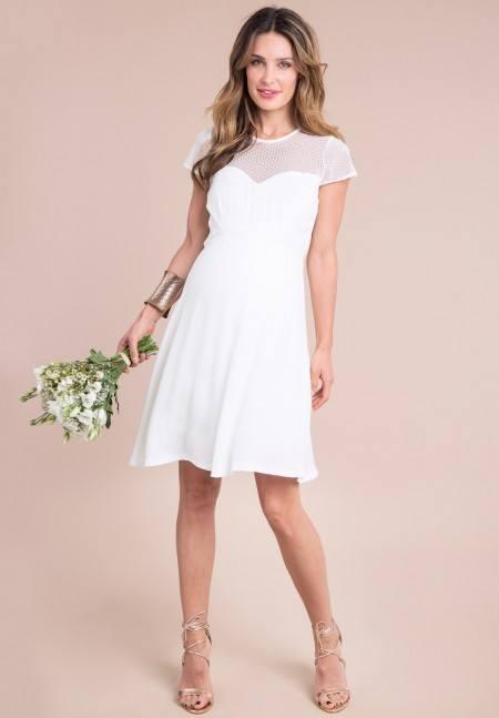 vestidos de novia sencillos para embarazadas 2019 - embarazo10