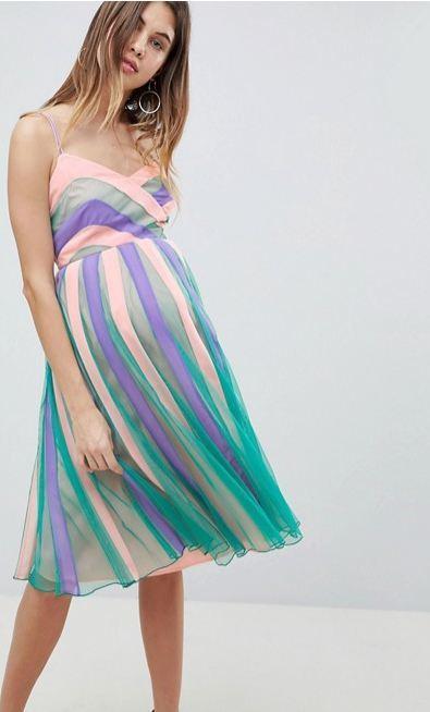 5e6eebeff Vestidos de fiesta día y noche para embarazadas Primavera Verano ...