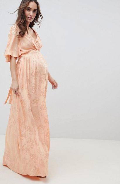 5c7277955 Fotos de los mejores vestidos de fiesta para embarazadas Primavera Verano  2019