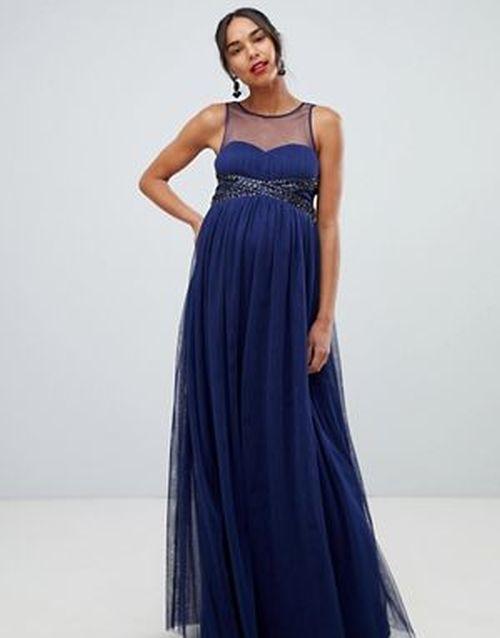 vestidos-para-embarazadas-invitadas-a-una-boda-cinturilla-adornos-azul-marino-asos