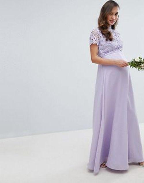 vestidos-para-embarazadas-invitadas-a-una-boda-cuello-subido-falda-croche-chi-chi-london-asos