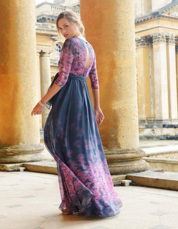 vestidos-para-embarazadas-invitadas-a-una-boda-largo-seda-azul-marino-y-rosa-seraphine
