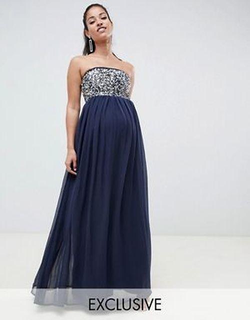 vestidos-para-embarazadas-invitadas-a-una-boda-palabra-de-honor-adornos-estrellas-asos-design-maternity