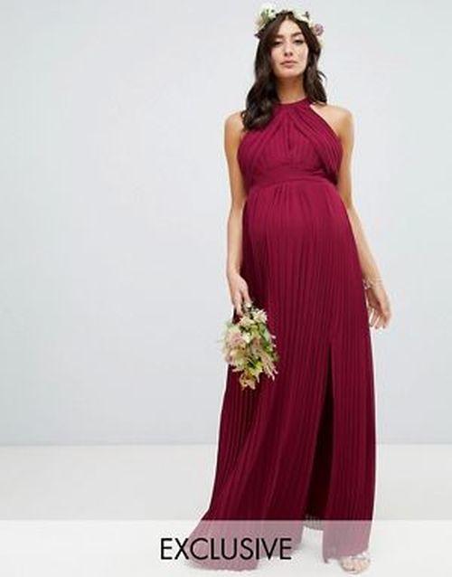 vestidos-para-embarazadas-invitadas-a-una-boda-plisado-dama-de-honor-burdeos-tfnc-asos