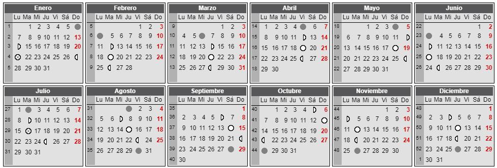 Calendar Lunar 2019