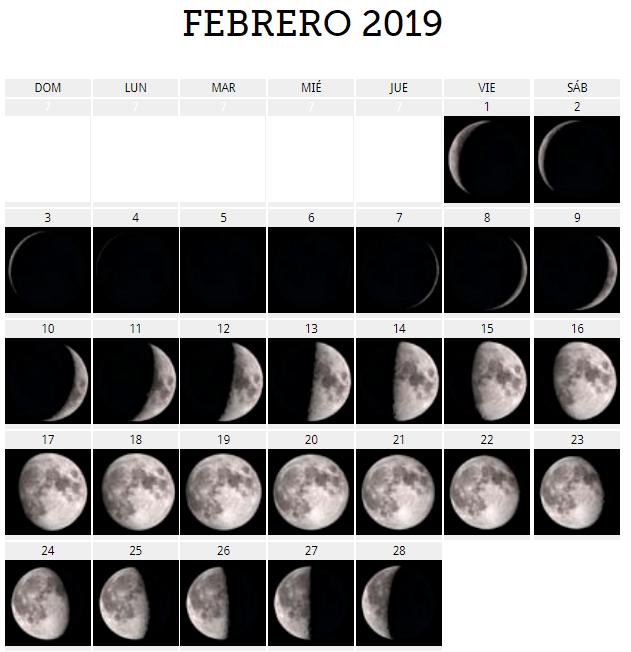 El calendario lunar 2019 | Fases de la luna para concebir y dar a ...