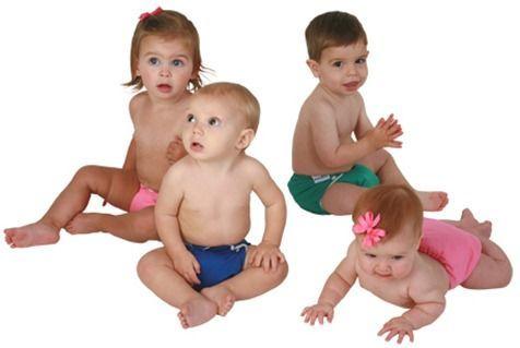 Bebés-con-pañal-de-tela