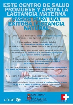 Cartel centro salud lactancia materna