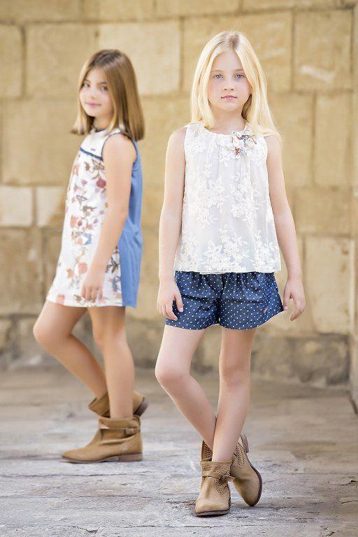 amaya-moda-infantil-coleccion-2015-coleccion-classic-estampado-floral-de-topos