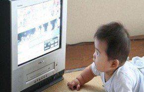 Televisión negativa para el desarrollo lenguaje bebé