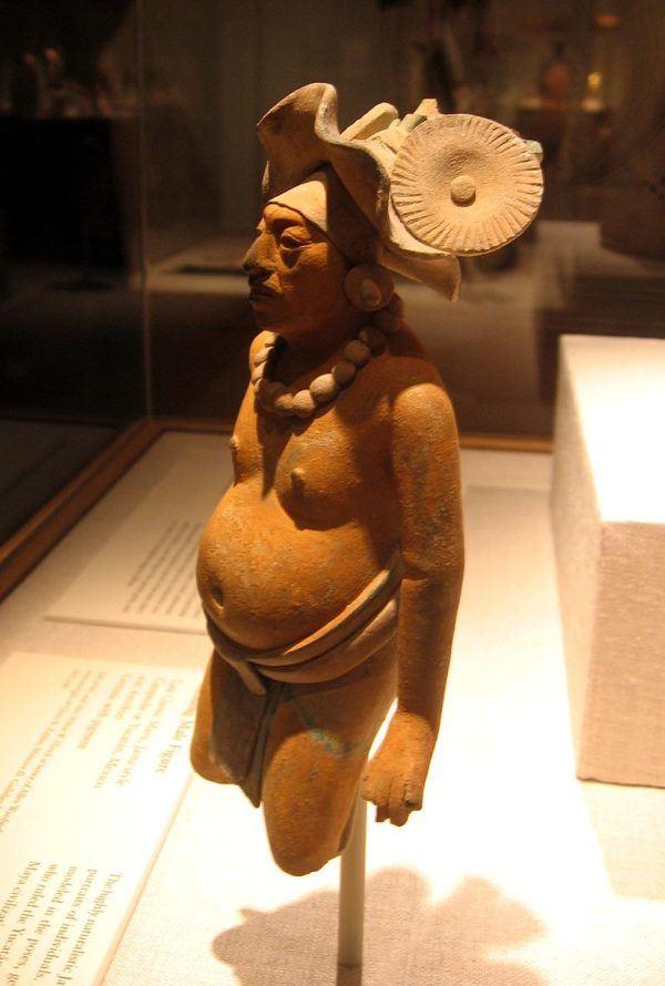 Representación Maya de Mujer Embarazada