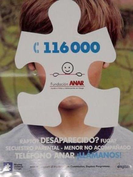 niños desaparecidos, telefono 116000