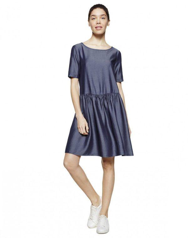 catalogo-benetton-premama-2016-primavera-verano-vestido-lyocell