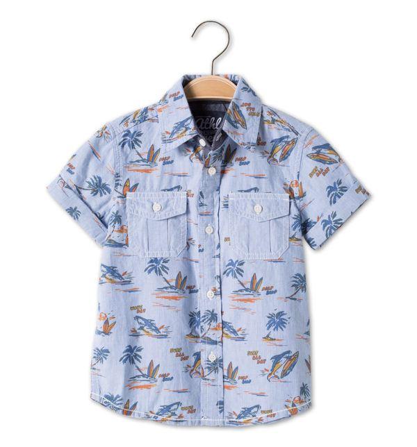 catalogo-c&a-niños-y-niñas-primavera-verano-2015-MODA-Niños-camisa-estampado-tropical
