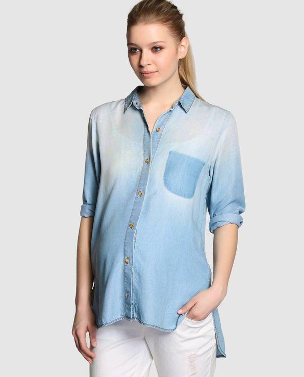 catalogo-el-corte-ingles-premama-primavera-verano-2015-camisa-denim