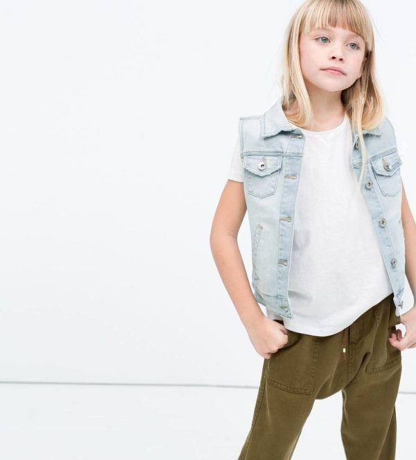 catalogo-zara-ninos-2015-moda-niñas-chaleco-denim-camiseta-oversize