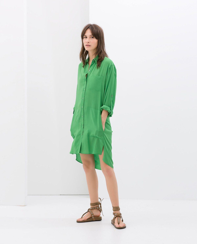 Catalogo zara premama primavera verano 2014 vestido camisa - Catalogo de zara primavera verano 2015 ...