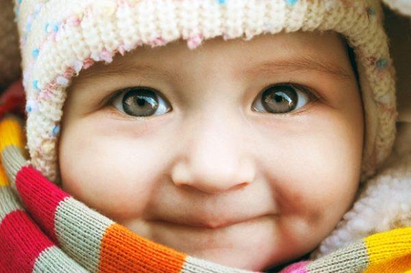 color bebe ojos