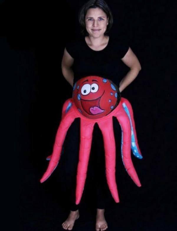 disfraces-originales-embarazadas-carnaval-2015-disfraz-de-pulpo