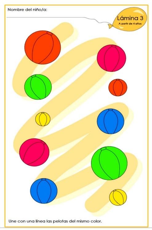 ejercicios para aprender los colores para nios aos