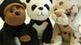 Regalo Peluches Oso Panda, Gorila y Lince