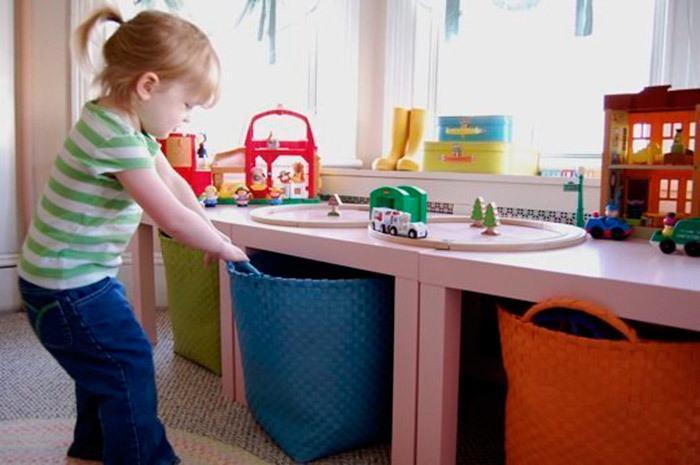 5 trucos perfectos para guardar y ordenar los juguetes de - Cestas para guardar juguetes ...