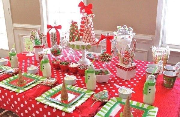 Ideas para un baby shower en navidad for Ideas mesa navidad