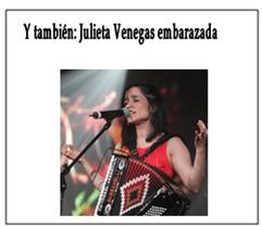 Julieta Venegas embarazada, pulsa para más información