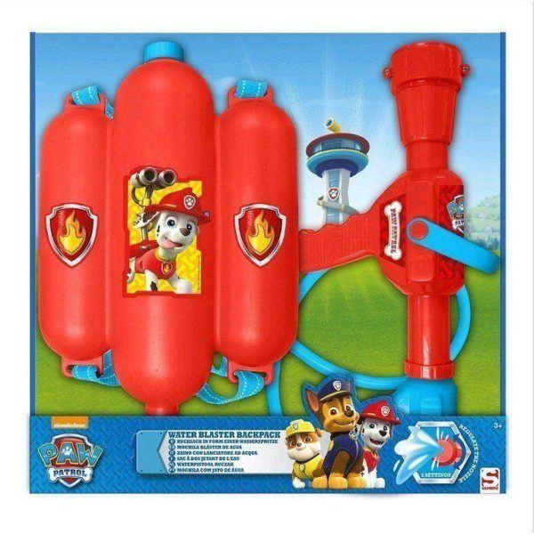 juguetes-acuaticos-rebajas-mochila-pistola-de-agua-patrulla-canina