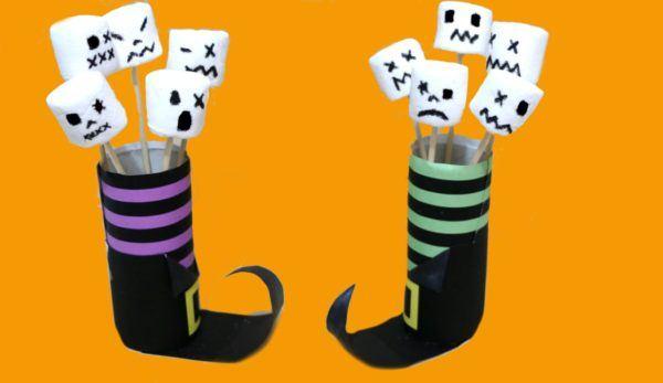 manualidades-de-halloween-con-rollos-de-papel-higienico-brujas