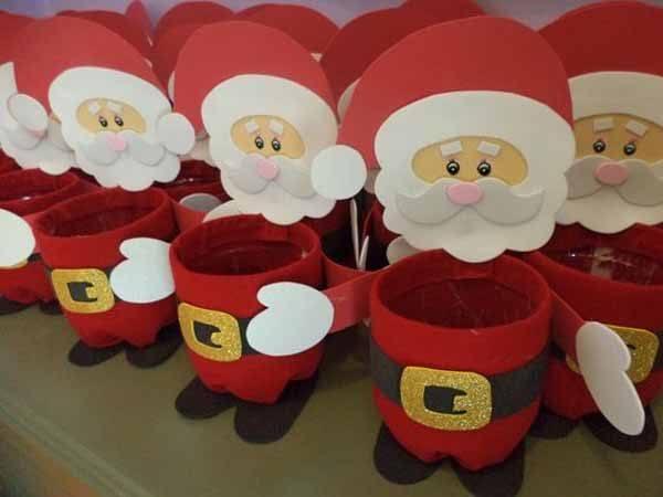 De 90 manualidades de navidad 2017 f ciles de hacer for Figuras navidenas para decorar