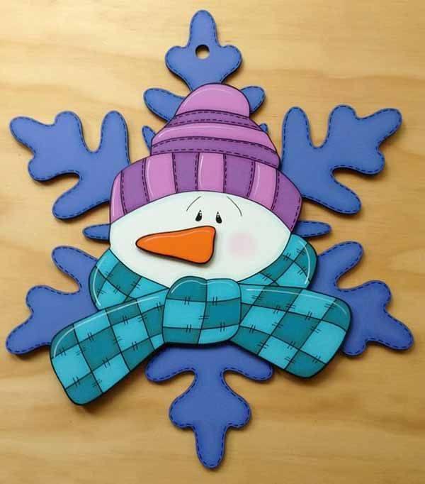 manualidades-de-navidad-para-ninos-en-foami-muneco-de-nieve