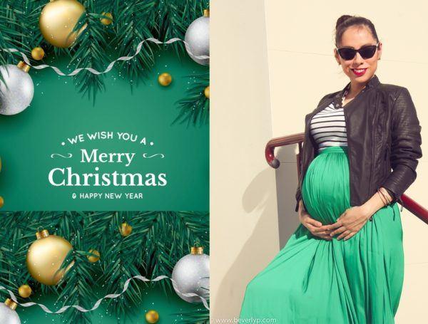 moda-de-navidad-para-embarazadas-faldas-verde
